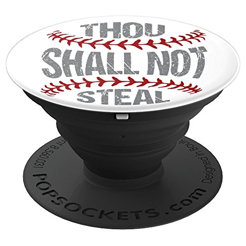 Baseball Softball Catchers Thou Shall Not Steal - PopSockets Grip and Stand for Phones and Tablets