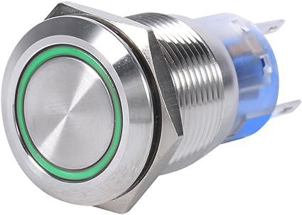 5x Drucktaster Schalter 4,36 EUR//Stück 12V 20A EDELSTAHL tastend
