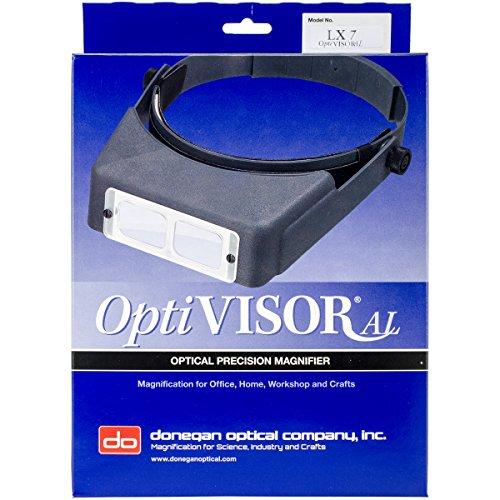 - Brand New OptiVISOR LX Binocular Magnifier-Lensplate #7 Magnifies 2.75x At 6