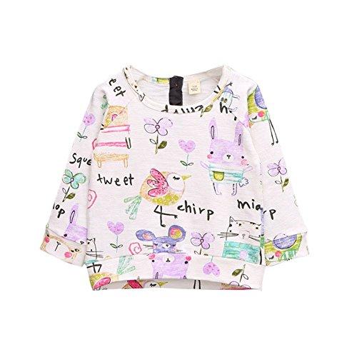 Patgoal Kids Baby-Mädchen T-Shirt Blusen Girls Langarmshirts(2-7Jahre)