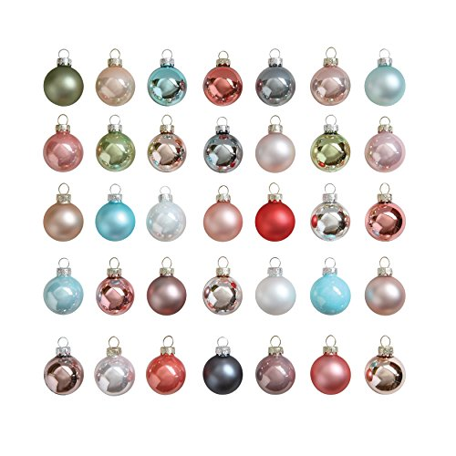 Creative Co-Op XM0660 Set of 54 Pastel Multicolor Round Glass Ornaments