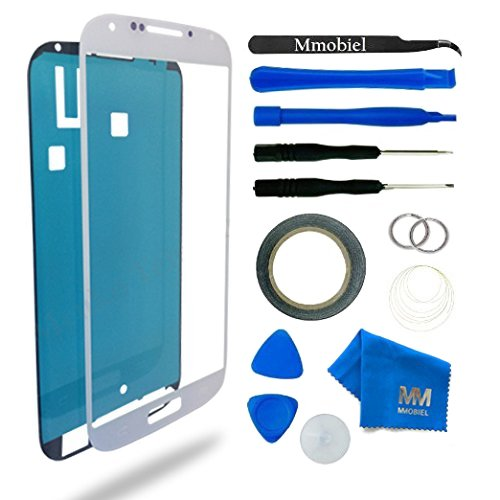 MMOBIEL Front Glass forSamsung Galaxy A3 (2015) A300 Series (White) Display Touchscreen incl Tool Kit/Pre-Cut Sticker/Tweezers/ Roll of Adhesive Tape/Suction Cup/MetalWire/Cleaning Cloth