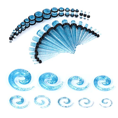 BodyJ4You Gauges Glitter 14G 00G Stretching product image