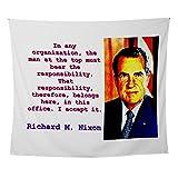 CafePress - In Any Organization - Richard Nixon - Wall Tapestry