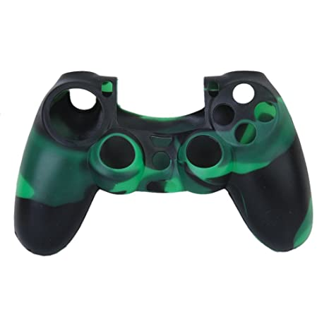 Funda Silicona Piel Protectora Camo Para Sony PlayStation 4 PS4 Mando / Case Cover for PS4 Controller Verde