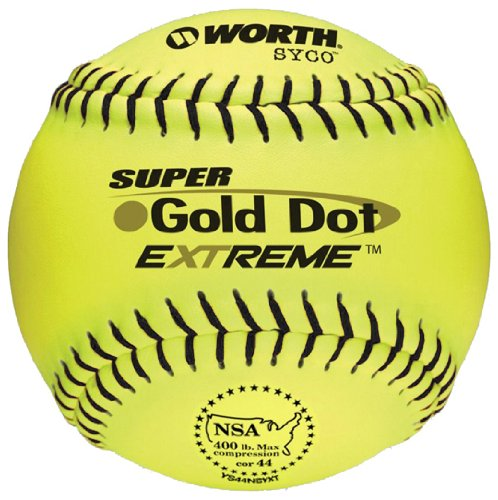 Worth Super Gold Dot Extreme NSA Softball (12-Inch)(pack of 12) by Worth