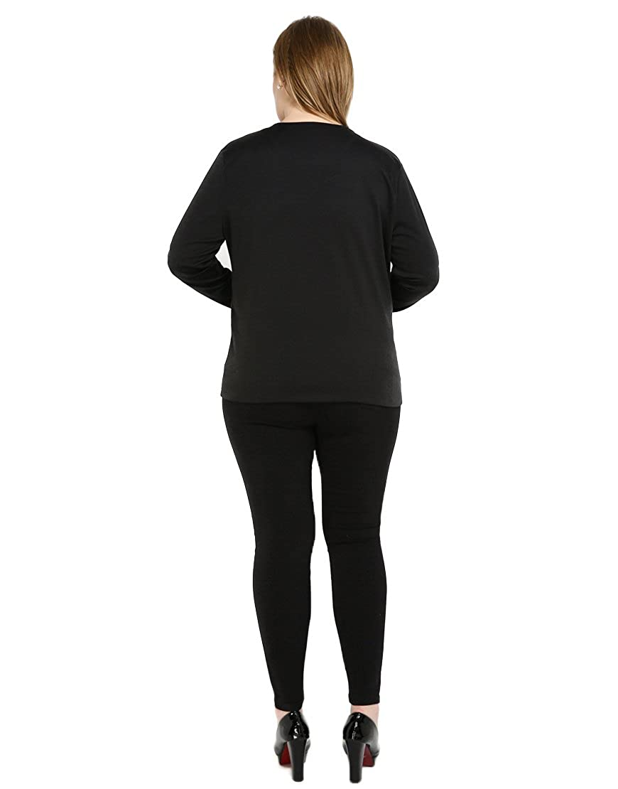 Cute Ann Womens Sexy Long Sleeve Open Fornt Plus Size Faux ...
