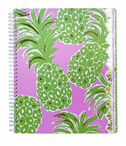 Lilly Pulitzer Women's Large College Ruled Notebook with 160 pages (Pineapple Engineered)