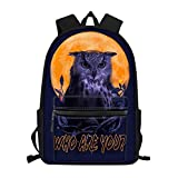 Owl Print Kids Backpack for 2Nd Grader / 3Th Grade / 4Th Grade