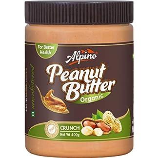 Alpino Organic Natural Peanut Butter Butter Crunch 400g (Unsweetened / Gluten Free / Non-GMO) 511kXJfpSgL