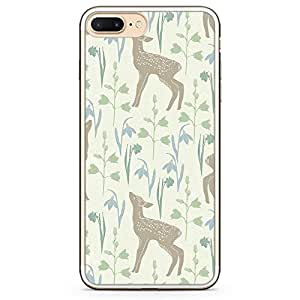 Loud Universe iPhone 7 Plus Transparent Edge Case - Springs Baby Deer Pattern