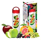 Viva Fresh Infusion Water Bottle, Create Your Own Naturally Flavored Fruit Infused Juice, Iced Tea, Lemonade and Sparkling Beverages