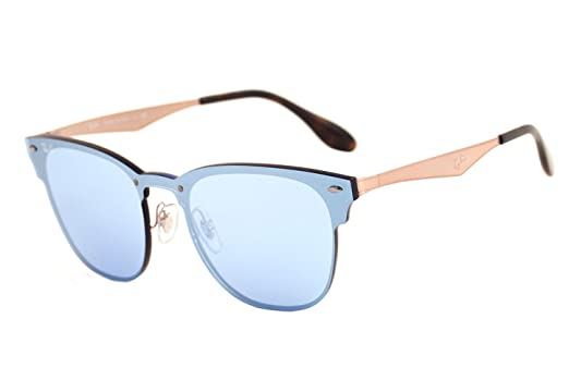 Amazon.com  Ray-Ban RB3576-N Authentic Metal Sunglasses. Color Blue ... 406b7e77ac7b