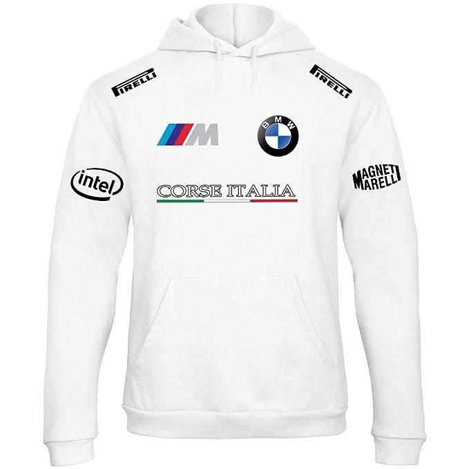 Sudadera con Capucha Deportiva Sweatshirt Hombre BMW MPower Motorrad Team Italia Motorsport Tuning Coche Moto Auto