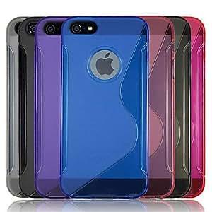 """Conseguir TPU """"S"""" Patrón de nuevo caso con el marco de Logo para iPhone 5C (colores surtidos) , Púrpula"""
