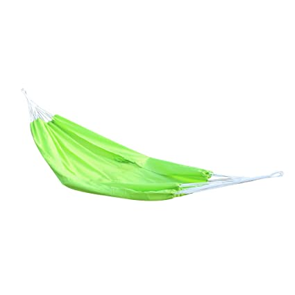 Generic Portable Travel Outdoor Camping Hanging Hammock Sleeping Bed With Sack (Green)