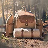VonShef Premium Picnic Backpack for 4 Person