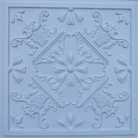 cheap decorative plastic ceiling tiles 25 tin white fire rated can be glue on any