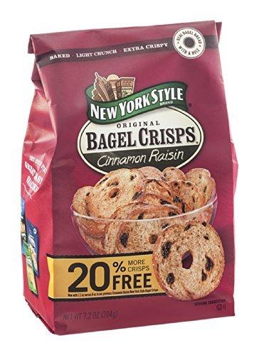 New York Style, Bagel Chip Cinn Raisin, 7.2-Ounce (Pack of 6)