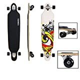 VINGO®41' Skateboard ABEC 7 Freestyle Streetsurfer 104cm Drop through Longboard 70er-Stil Downhilling Aluminium Trucks Komplettboard