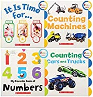 "Constructive Playthings Set of Four Early Numbers Board Books Including""Numbers"",""Counting Mach"