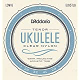 D'Addario EJ65TLG Pro-Arté Custom Extruded Nylon Ukulele Strings, Tenor Low-G