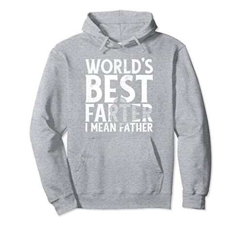 Unisex Mens World's Best Farter I Mean Father Hoodie Fathers Day XL: Heather Grey