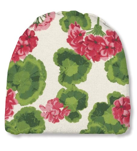 Plow & Hearth 35665-13 Weather Resistant Outdoor Classic Chair Cushion, Geranium ()