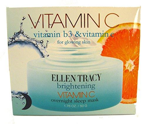 Ellen Tracy Vitamin C, Vitamin B3 and Vitamin E Overnight Sleep Mask 1.76 Oz (50 Ml)