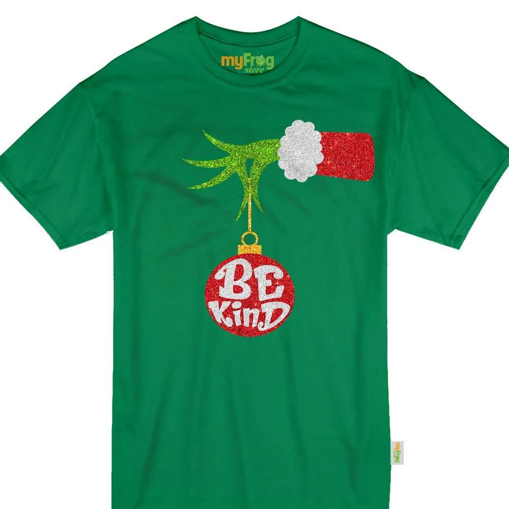 ff586408 Amazon.com: Be Kind Grinch-Hand Holding Ornament Christmas Unity Day Tshirt:  Clothing