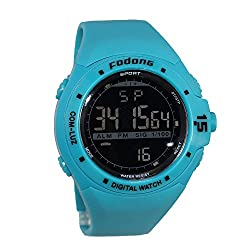 FODONG Mens Sports Watch Fashion Casual Digital Watches Waterproof Wristwatches with Back Light Blue