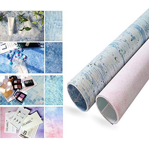 Evanto 22x35Inch 2 Rolls Seamless Background Paper with 4 Patterns for Daily Photos, Desktop Photography, Product Displays, Youtube Video and more