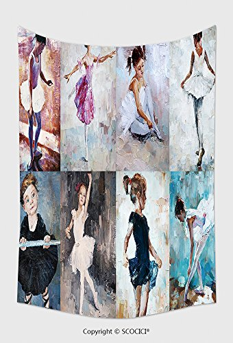 Cute Halloween Quotes Sayings Kids (Home Decor Tapestry Wall Hanging Oil Painting Girl Ballerina Drawn Cute Ballerina Dancing Collage 389490241 for Bedroom Living Room Dorm)