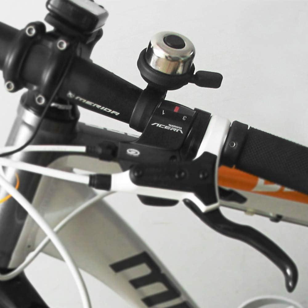 Campana per Bici Argento Anello per Bici da Bicicletta Tromba Campana per Bici per Bambini Campana per Bicicletta rumorosa Campana per Bicicletta per Adulto IWILCS Campana per Bici