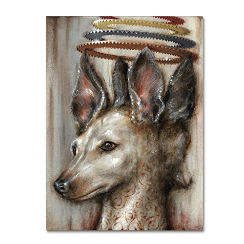 Trademark Fine Art Double Dog by Jason Limon, 14x19-Inch Canvas Wall Art