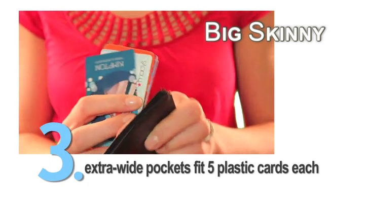 Big Skinny Women's Trixie Tri-Fold Slim Wallet, Holds Up to 30 Cards