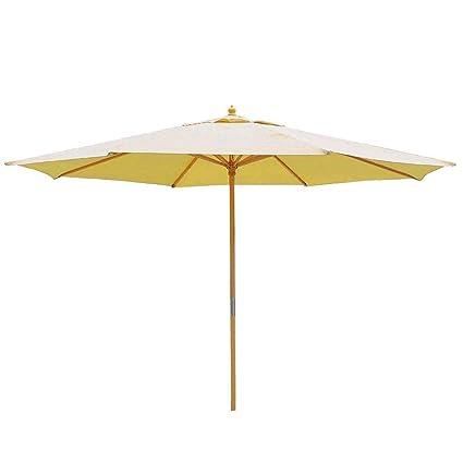 13 Ft. Wooden Outdoor Patio Umbrella (13 FT Beige)  Garden u0026 Outdoor  sc 1 st  Amazon.com & Amazon.com : KOVAL INC. 13 Ft. Wooden Outdoor Patio Umbrella (13 FT ...
