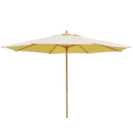 KOVAL INC. 13 Ft. Wooden Outdoor Patio Umbrella 13 FT, Beige