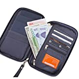 Taslar™ 3 Passport Holder, Passport Wallet, Travel Wallet Envelope Flip Cover Case Pouch For Men & Women,(Grey)