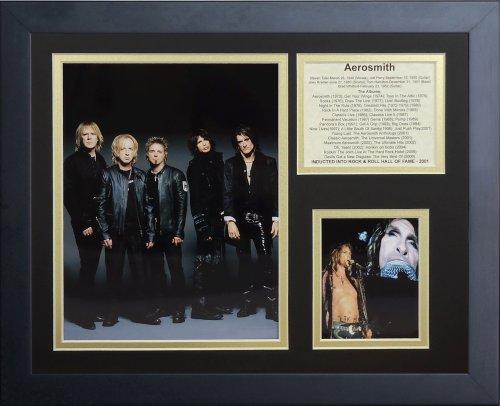 Iii Canvas Framed (Legends Never Die Aerosmith III Framed Photo Collage, 11 x 14-Inch)