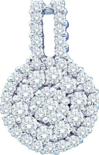 Or blanc 14carats Diamant 1.00DWT Pendentif Fleur