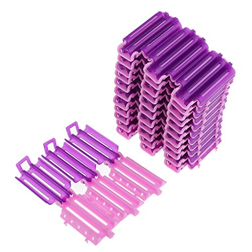 MagiDeal 36pcs Hair Curler Clips Clamps Roots Perm Rods Styling Wavy Rollers for Corn Fluffy DIY Tools No Heat