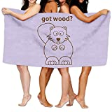 Cloud Up Beaver Wants Wood Microfiber Fast Drying Bath Towels Swimming Camping Towel,Adults Spa Bath Towel 31x51 Inches