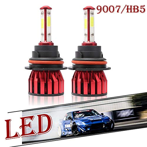 Headlight Bulb LED 9007/HB5 High and Low Beam Headlight 200W 20000LM 600K Cool White Light Car Bulbs Replacement Kit Waterproof IP67, Just Plug and Play, 2 Year Warranty