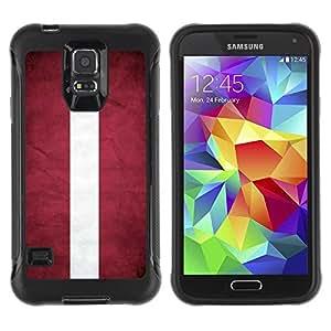 Suave TPU GEL Carcasa Funda Silicona Blando Estuche Caso de protección (para) Samsung Galaxy S5 V / CECELL Phone case / / National Flag Nation Country Latvia /