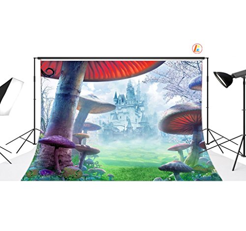 LB 7x5ft Fantasy Castle Vinyl Photography Backdrop Customized Photo Background Studio Prop DB910
