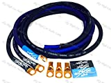 Sky High Oversized 4 Gauge AWG Big 3 Upgrade BLUE/BLACK Electrical Wiring Kit