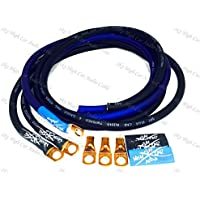 Sky High Oversized 4 Gauge OFC Big 3 Upgrade BLUE/BLACK Electrical Wiring Kit