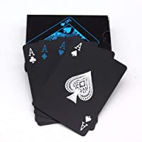 ROYALS Unique Black Good Quality Waterproof Colorful Playing Cards Plastic Deck Poker Playing Card
