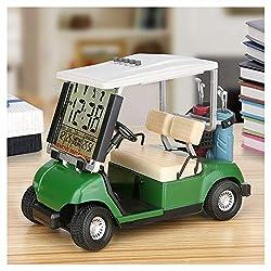 WEITRON Mini Golf Cart Clock Desktop decorationfor Golf Fans Great Gift for Golfers Race Souvenir Novelty Golf Gifts LCD Display